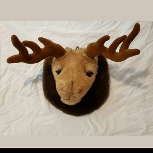 Moose Mounted Trophy Plush Head Stuffed Toy